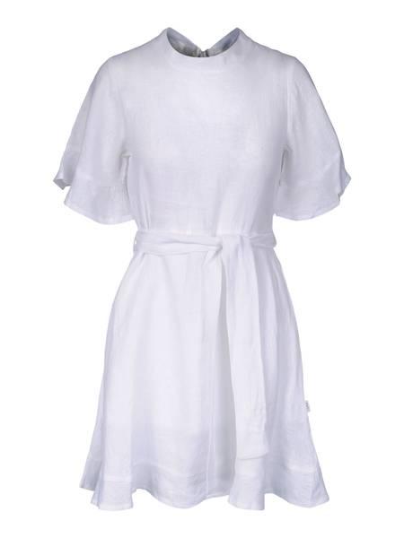 Bilde av Francesca Linen Dress Hvit