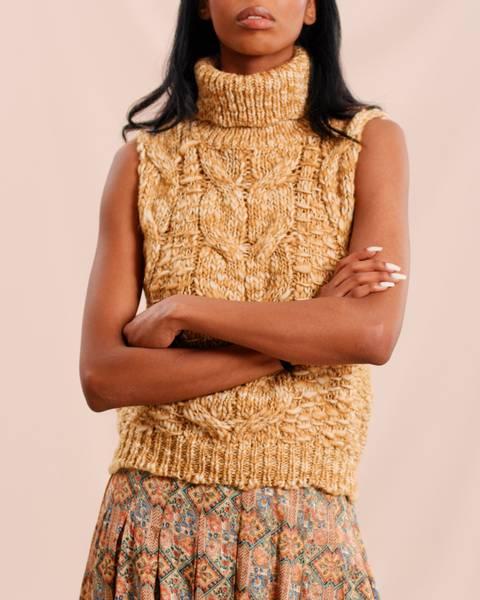 Bilde av Hand Knit Vest Mustard