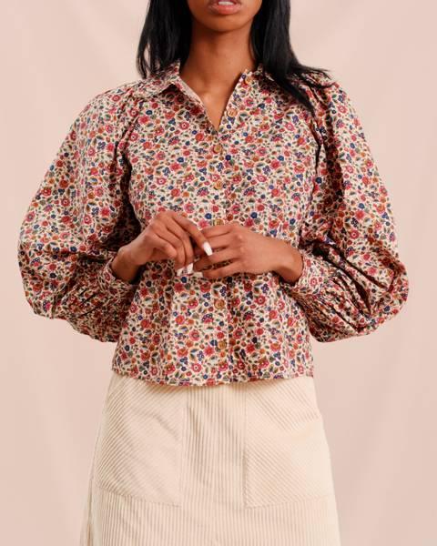 Bilde av 50`s Cotton Shirt Poppy
