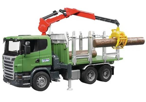 Bilde av Scania tømmerbil med kran - Bruder