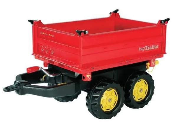 Bilde av Mega trailer med 3 veis tipp rød Rolly Toys