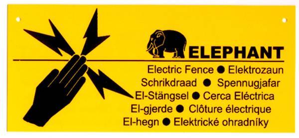 Bilde av Advarselsskilt Elephant