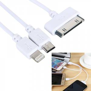 Bilde av Multiladekabel 3 i 1, iPhone, iPad, Samsung mm