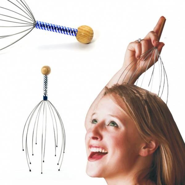 Hodebunn massasje, massasjestav for hodebunn