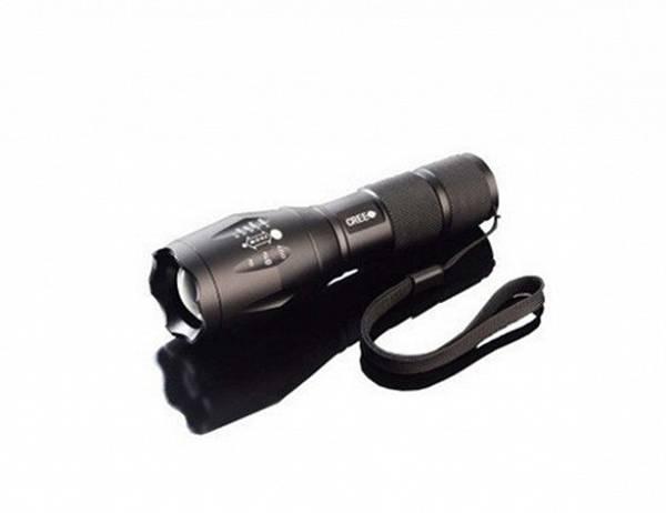 LED lommelykt CREE XM-L T6 1600 Lumen, vanntett, zoom