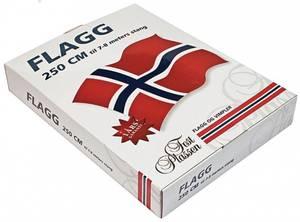 Bilde av Norsk flagg 200X145cm 100% polyester