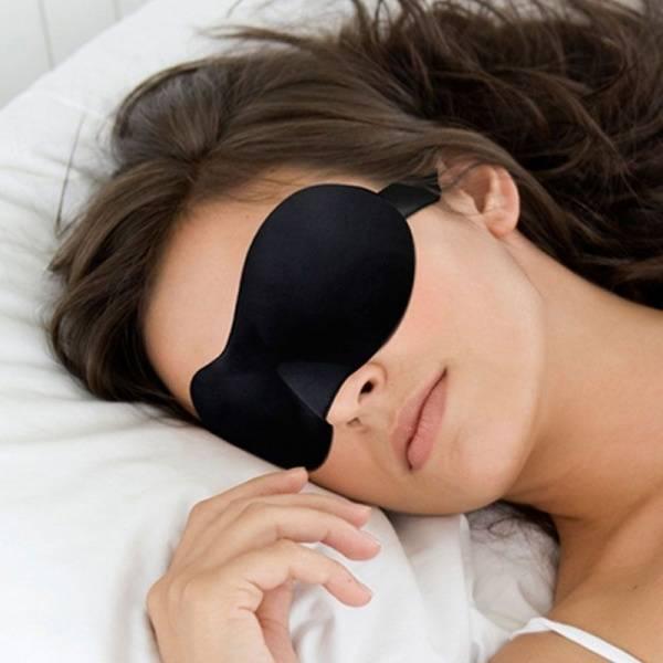 Sovemaske med ergonomisk design
