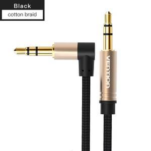 Bilde av Vention 3.5mm Jack Audio Kabel, vinklet, flettet,