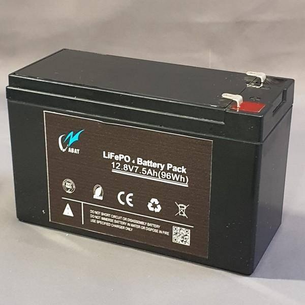 Bilde av Litium batteri 12Volt-7.5Ah 151x65x95mm 1,1kg