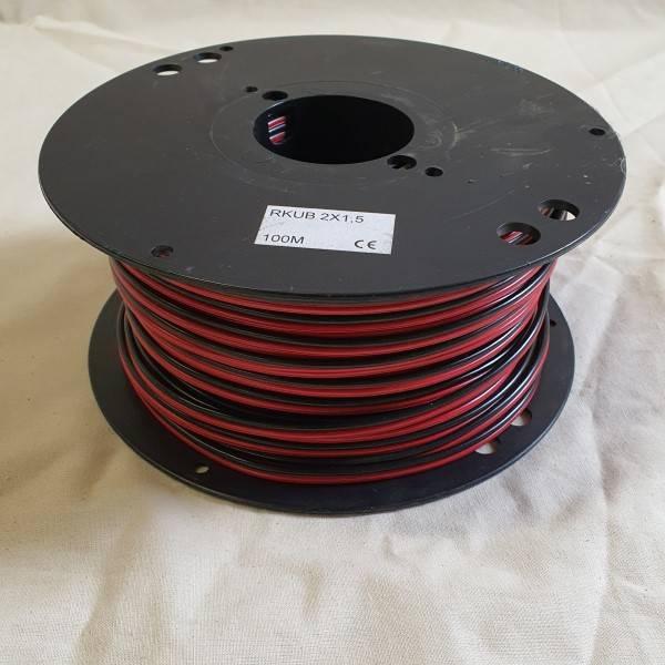 Bilde av Kabel 2x1,5mm2 rød-sort