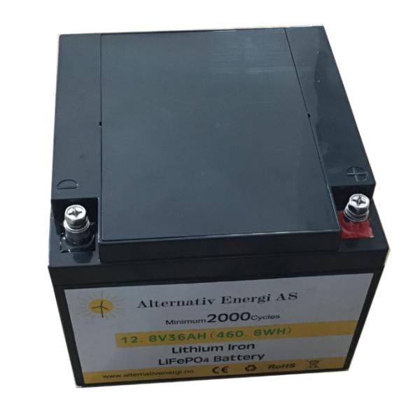 Bilde av Litium batteri 12Volt-36Ah 165x174x130mm 4,25kg