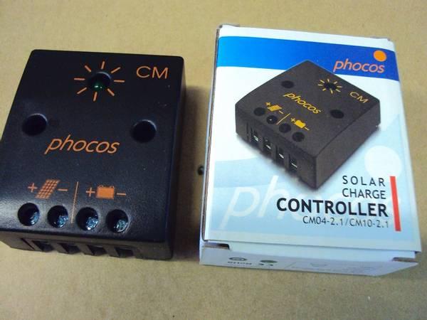 Bilde av Phocos 4A regulator uten forbruksutgang