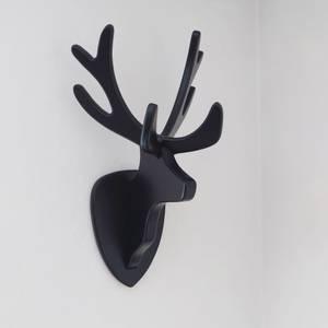 Bilde av Reinsdyrhode til vegg. Svart