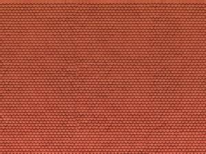 Bilde av Rød takstein, buet
