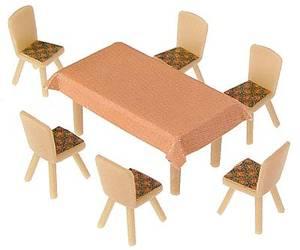 Bilde av 4 bord og 24 stoler