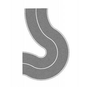 Bilde av Asfaltvei - kurve (grå)