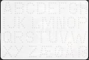 Bilde av Midi plate - bokstaver