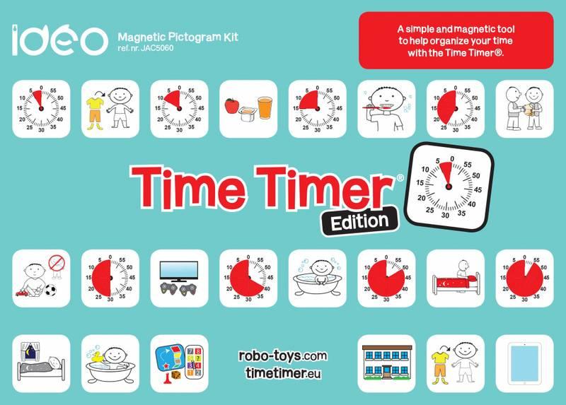 Time Timer - magnetisk piktogram sett