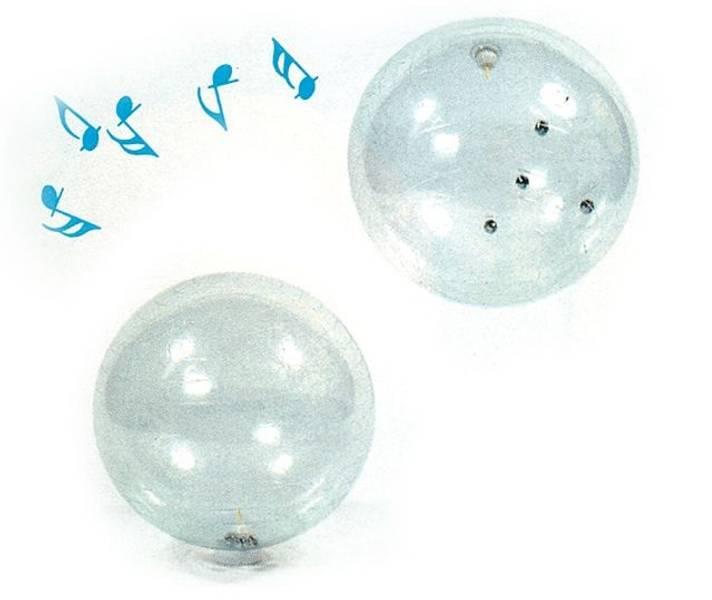 Klar ball med bjeller