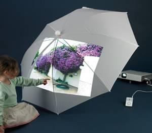 Bilde av Paraply projisering hvit