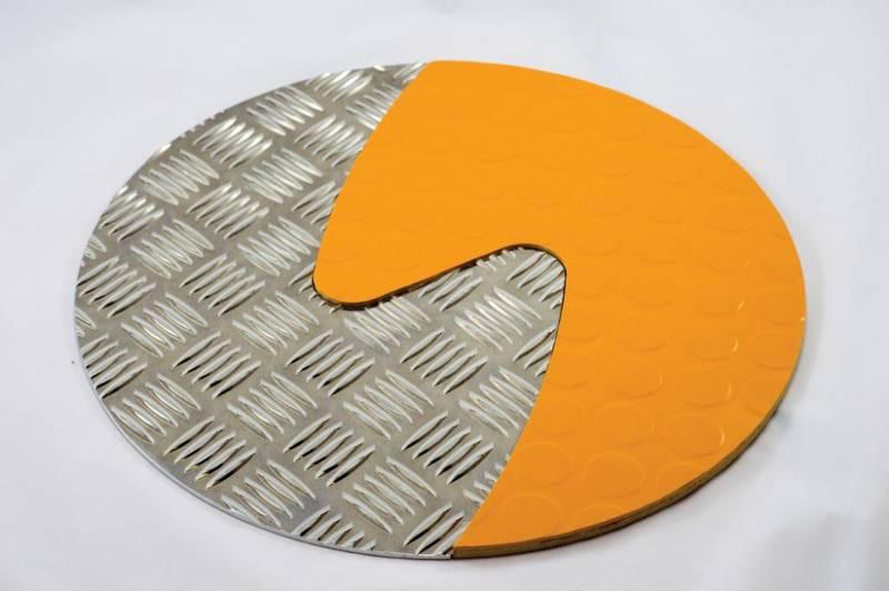 Taktile sirkler Oransje & Silver