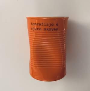 Bilde av kopp med tekst - homrafisje