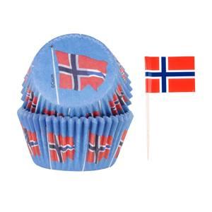 Bilde av 17.mai muffins med flagg