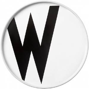 Bilde av design letters W asjett 22cm