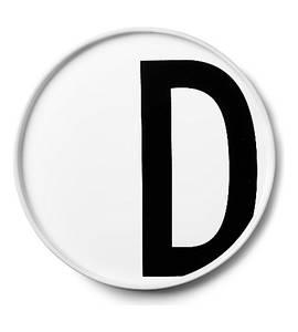 Bilde av design letters D asjett 22cm