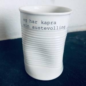 Bilde av kopp med teskt - kapra ein austevolling