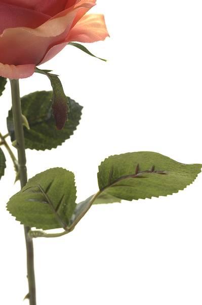 """Kunstig Rose """"Simone"""" Rosa 45cm"""