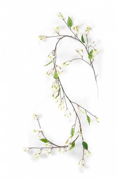 Kunstig Kirsebær Girlander Hvit 160cm