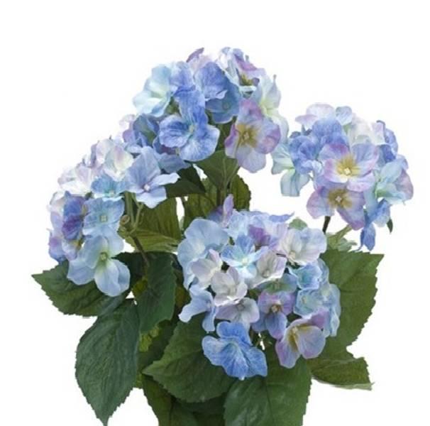 Kunstig Hortensia Busk Blå 40cm