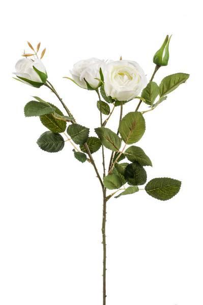 Kunstig Rose Peggy Hvit 60 cm