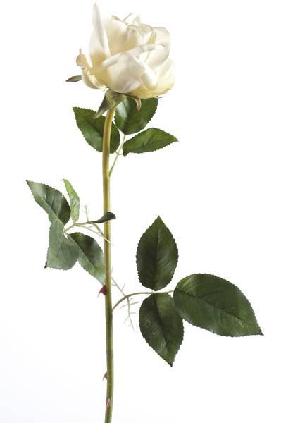 """Kunstig Rose """"Abby"""" Kremhvit 65cm"""
