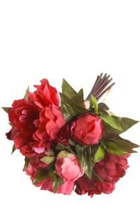 Bilde av Kunstig Peonbukett Fuchsia 25cm