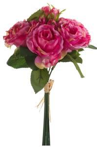 Bilde av Kunstig Rosebukett Rosa 30cm med 6 roser