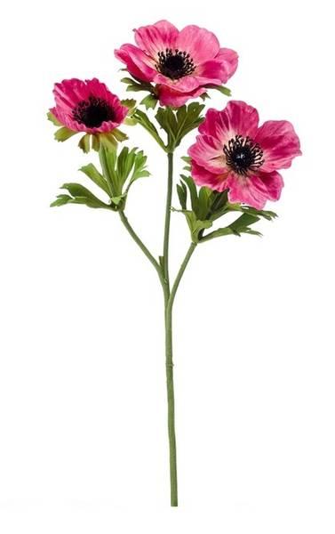 Kunstig Anemone Stilk Rosa 55cm
