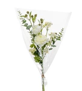 Bilde av Kunstig Blomster Bukett Hvit 65cm