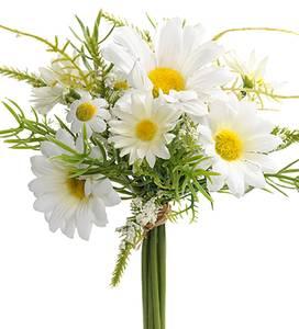 Bilde av Kunstig Blomster Bukett Prestekrage 20cm