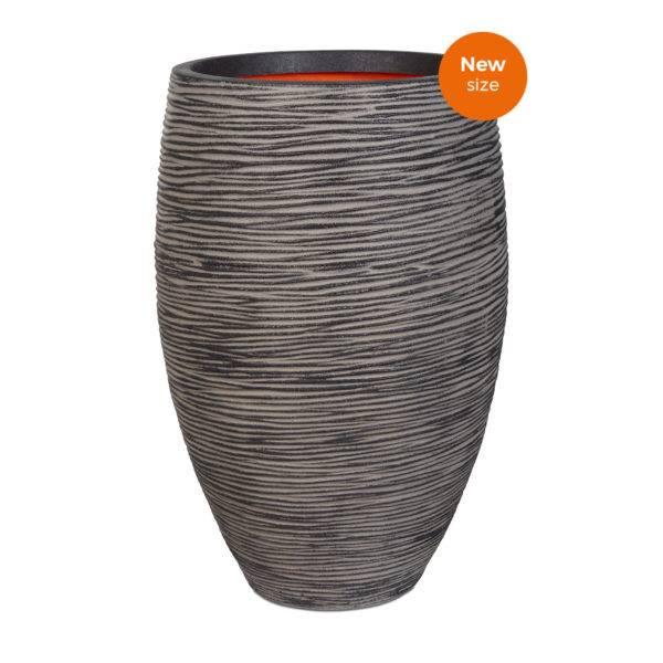 Capi Tutch Vase Elegant Deluxe Rib Antrasitt 72cm