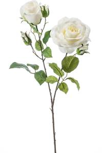 """Bilde av Kunstig Rose """"Eva"""" Kremhvit 84cm"""
