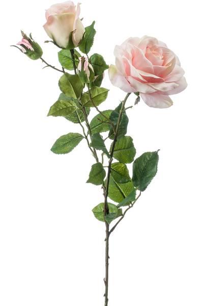 "Kunstig Rose ""Eva"" Lyserosa 84cm"