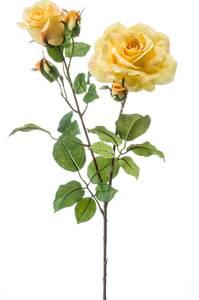 """Bilde av Kunstig Rose """"Eva"""" Gul 84cm"""