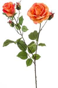 "Bilde av Kunstig Rose ""Eva"" Oransje 84cm"