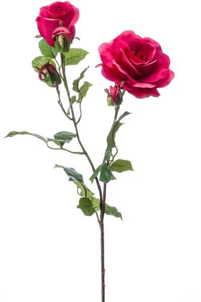 "Kunstig Rose ""Eva"" Fuchsia 84cm"