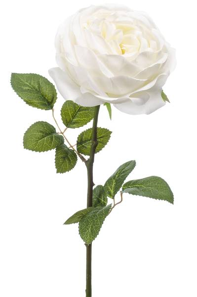 "Kunstig Rose ""Vicky"" Hvit 66cm"
