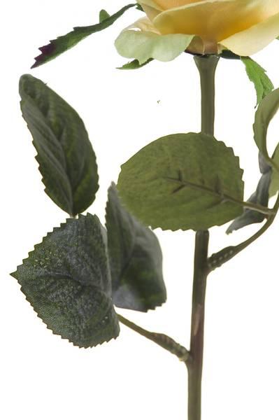 "Kunstig Rose ""Simone"" Gul 45cm"