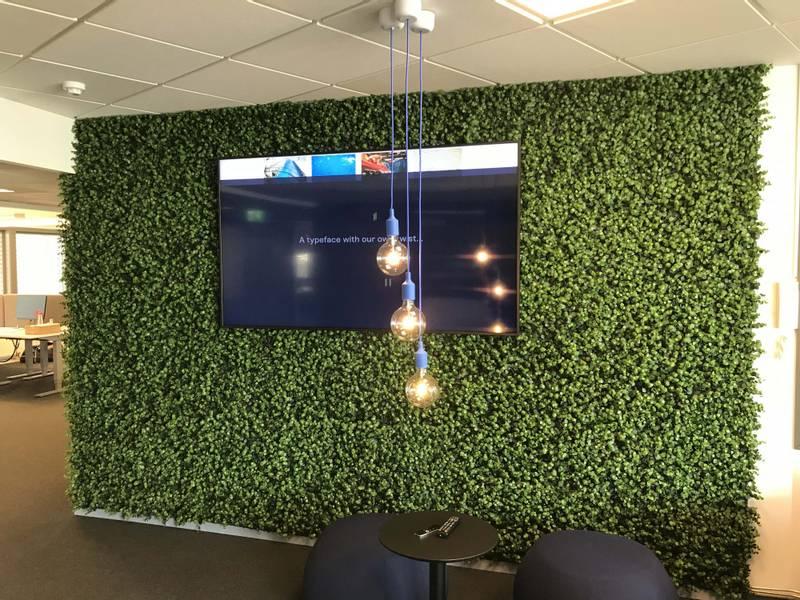 Kunstig Eukalyptus Plantevegg Matte UV 50x50cm