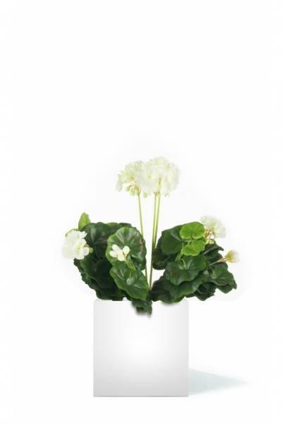 Kunstig Geranium Hvit 40cm
